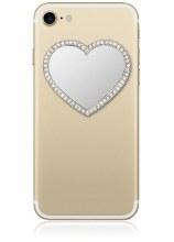 Silver Heart Phone Mirror
