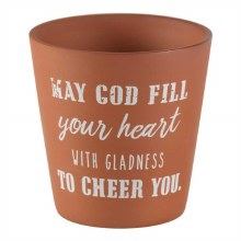 May God Fill Flower Pot