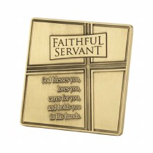 METAL FAITHFUL TABLE PLAQUE