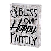 God Bless Our Fam Wood Plaque