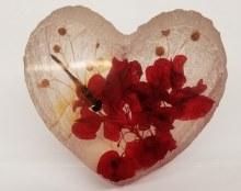 Dragonfly Heart-Shape Decor