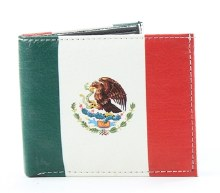 Mexican Flag Print Wallet