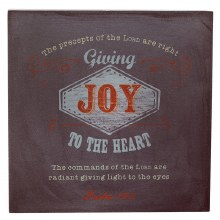 HANGING WOODEN JOY BLOCK