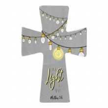 BE A LIGHT MATT.5:16 WALL CROS