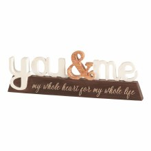 You & Me Word Figurine