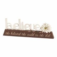 Believe Word Figurine