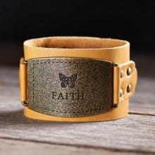Womens Faith Leather Wrist