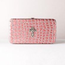 Pink Croc Wallet