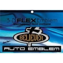 Believe Cross Car Emblem Gold
