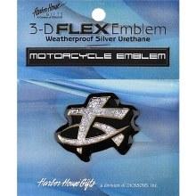 Fish Cross Motorcy Emblem Silv