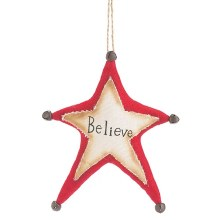 Believe Fabric Ornament