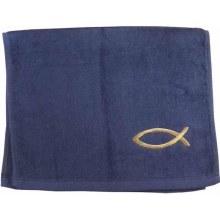 Pastor Towel Fish Navy