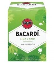 Bacardi 4 Pack Lime & Soda