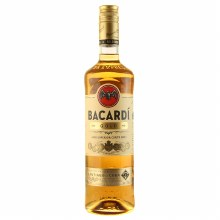 Bacardi 750ml Gold Rum Glass Bottle