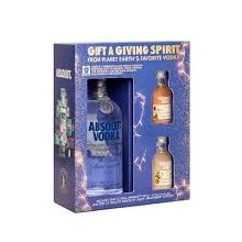 Absolut 750ml Gift Set with 2 of 50mls