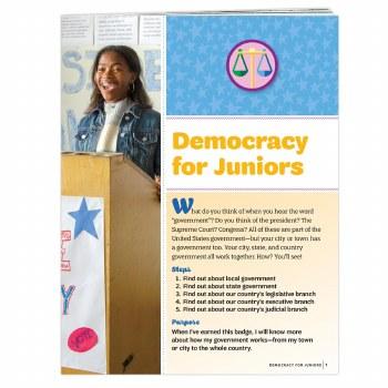 Democracy for Juniors Badge Re