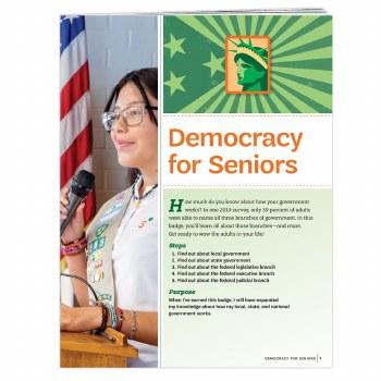 Democracy for Seniors Badge Re