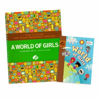 Brownie A World of Girls & Adult Guide Journey Book Set