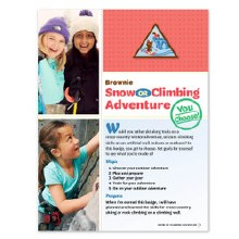 Brownie Snow or Climbing Badge
