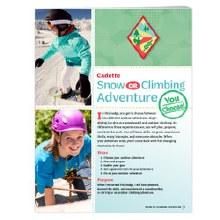 Cadette Snow or Climbing Badge