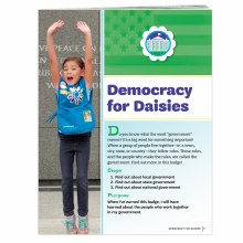 Democracy for Daisies Badge Re