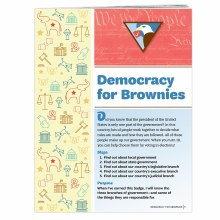 Democracy for Brownies Badge R