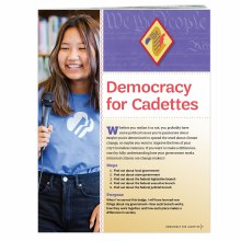 Democracy for Cadettes Badge R
