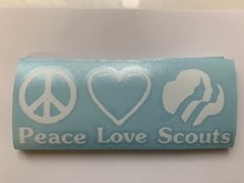 Peace, Love, Scouts Bumper Sti
