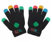 BLACK GLOVES WITH MULTI TIPS