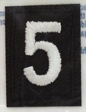 Brownie Troop Numeral Iron On Patch