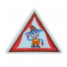 Brownie Showcasing Robots Badge