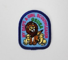 My Dad's A Girl Scout Leader Fun Patch