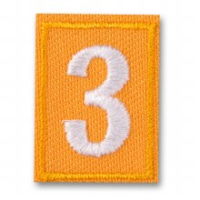 Daisy Troop Numeral Iron On Patch