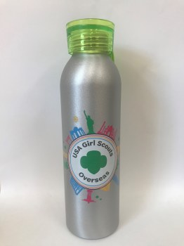 USAGSO Water Bottle with Green lid