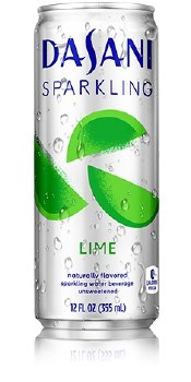 Dasani Sparkling Water Lime 12oz Can
