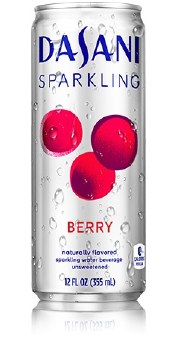 Dasani Sparkling Water Berry 12oz Can