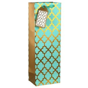 Turquoise Glam Wine Gift Bag