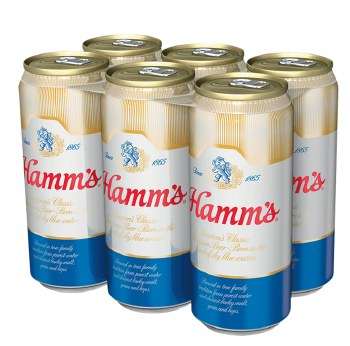 Hamm's Premium Beer 6pk 16oz Can
