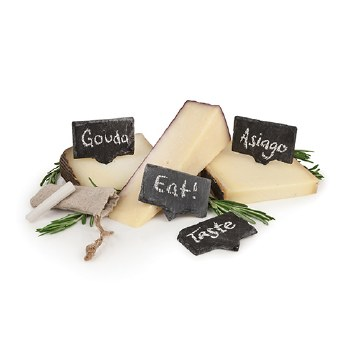 Rustic Farmhouse Slate Cheese Markers (set of 4)