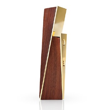 Belmont Acacia and Gold Bottle Opener