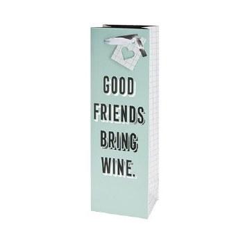 Good Friends Bring Wine Gift Bag