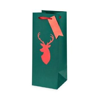 Reindeer 1.5L Wine Gift Bag