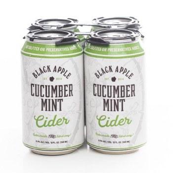 Black Apple Cider Cucumber Mint Hard Cider 4pk 12oz Can
