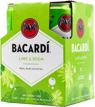 Bacardi Lime Soda 4pk 335ml