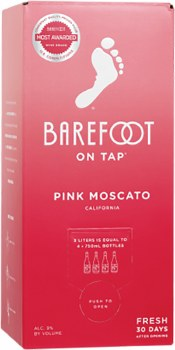 Barefoot Pink Moscato 3L
