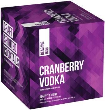Beagans 1806 Cranberry Vodka 4pk 200ml Can