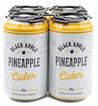 Black Apple Cider Pineapple Hard Cider 4pk 12oz Can