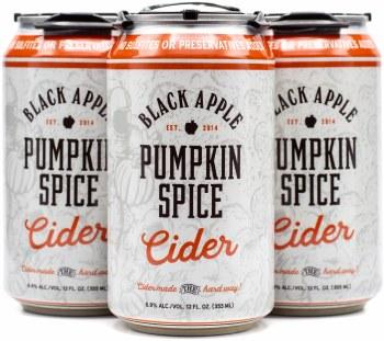 Black Apple Cider Pumpkin Spice Hard Cider 4pk 12oz Can