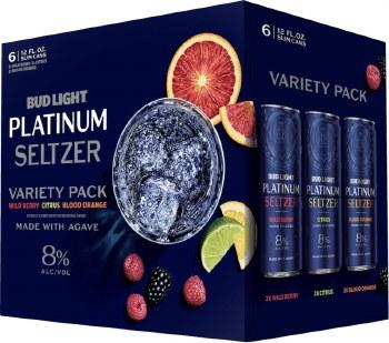 Bud Light Platinum Seltzer Variety Pack 6pk 12oz Can