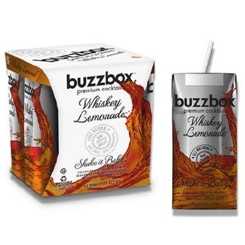 Buzzbox Whiskey Lemonade 4pk 200ml